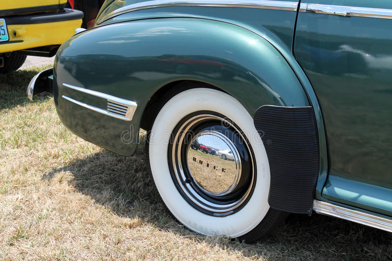 Klasyczna amerykańska samochodowa tylni strona zdjęcia royalty free