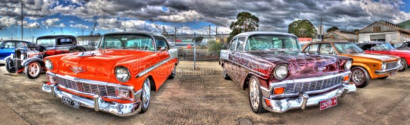 Klasyczna amerykanina Chevy panorama obrazy stock