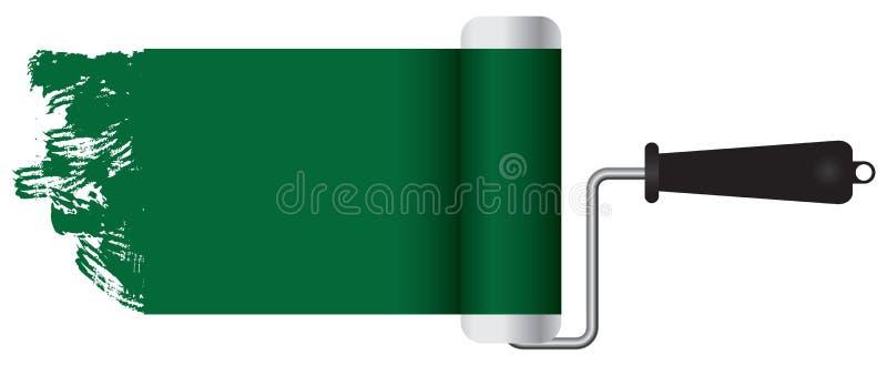 Klasyczna farba rolownika farby zieleń ilustracji