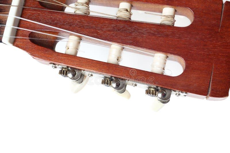 Klasyczna gitary głowa na bielu zdjęcie royalty free