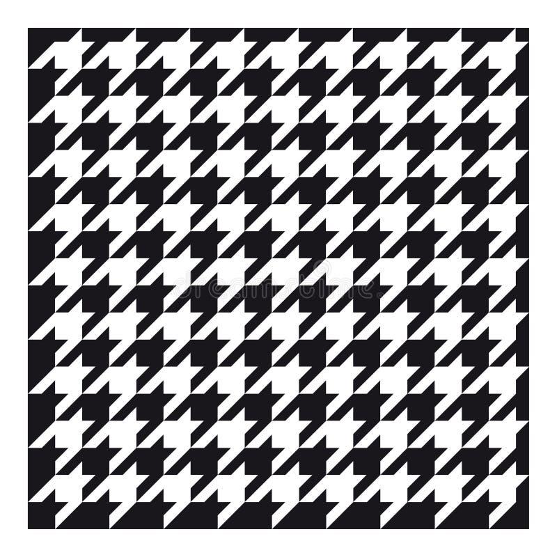 Klasyczna houndstooth tkanina dla odziewać ilustracja wektor