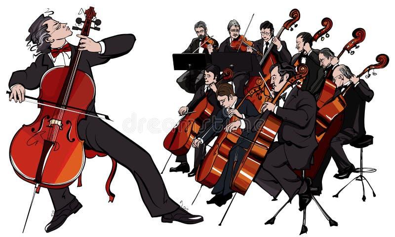 Klasyczna orkiestra royalty ilustracja