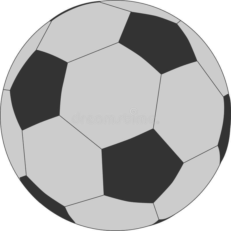 Klasyczna piłki nożnej piłki ilustracja ilustracja wektor
