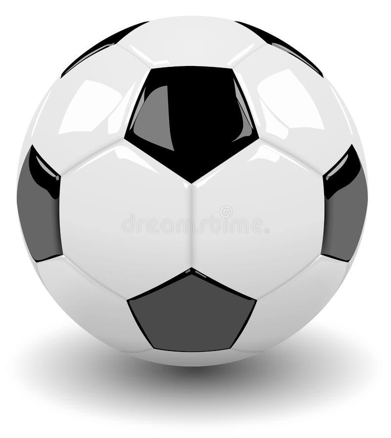 Klasyczna piłki nożnej piłka ilustracji