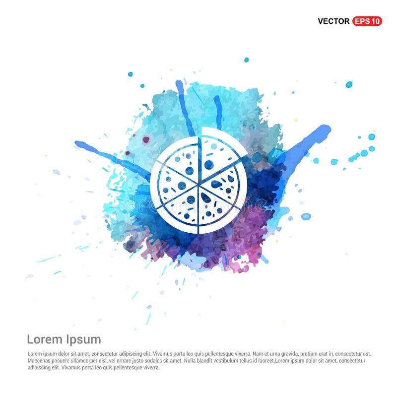 Klasyczna pizzy ikona - akwareli tło ilustracji