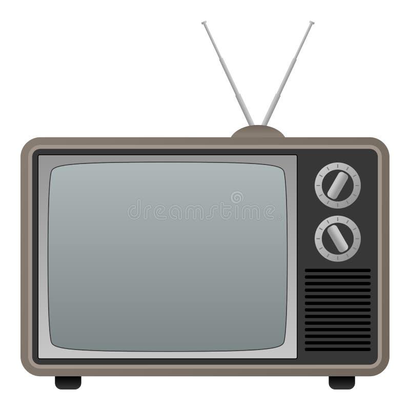 klasyczna retro telewizja royalty ilustracja
