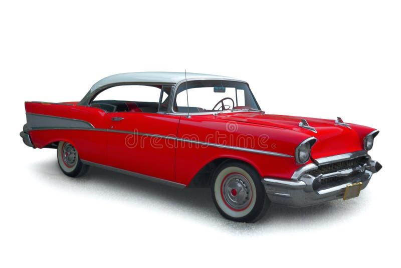 klasyczna samochodów czerwony obraz royalty free