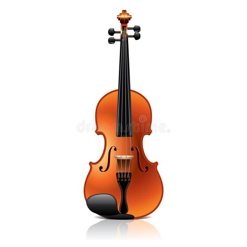 Klasyczna skrzypcowa wektorowa ilustracja royalty ilustracja