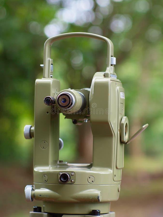 Klasyczna theodolite kamera zdjęcia royalty free