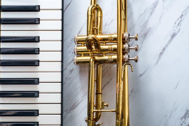 Klasyczna Tubowa Fortepianowa klawiatura zdjęcia royalty free