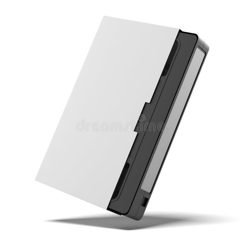 Klasyczna vhs kaseta w pokrywie ilustracja wektor