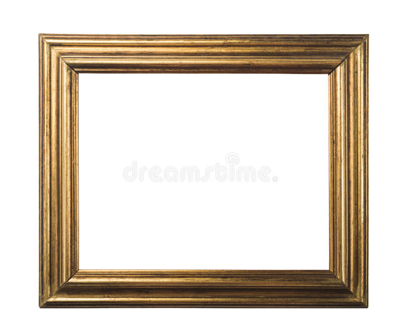Klasyczna złoto rama obraz stock