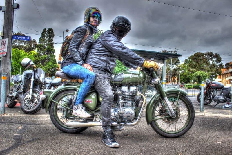 Klasyczne angielszczyzny budowali Królewskiego Enfield motocykl zdjęcie royalty free