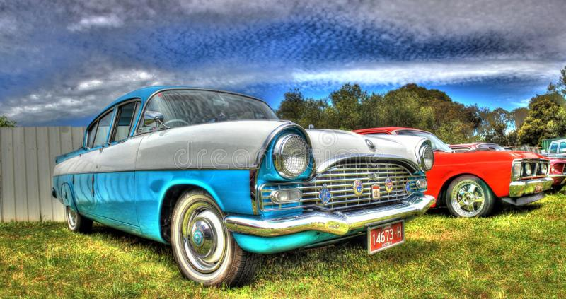 Klasyczne angielszczyzny budowali Vauxhall samochód obraz royalty free