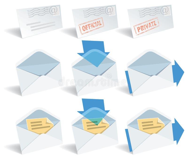 klasyczne email ikony royalty ilustracja