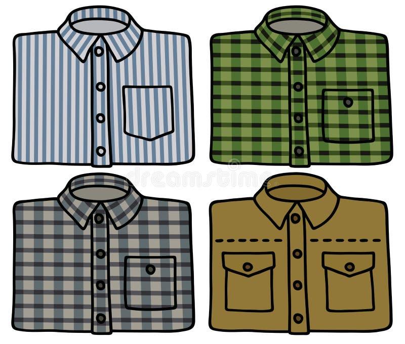 Download Klasyczne koszula ilustracja wektor. Ilustracja złożonej z khaki - 53784253
