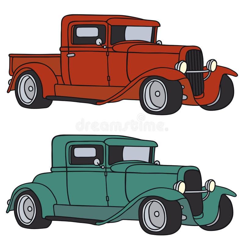 klasyczne samochody royalty ilustracja