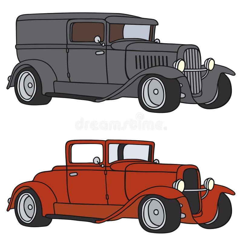 klasyczne samochody ilustracja wektor