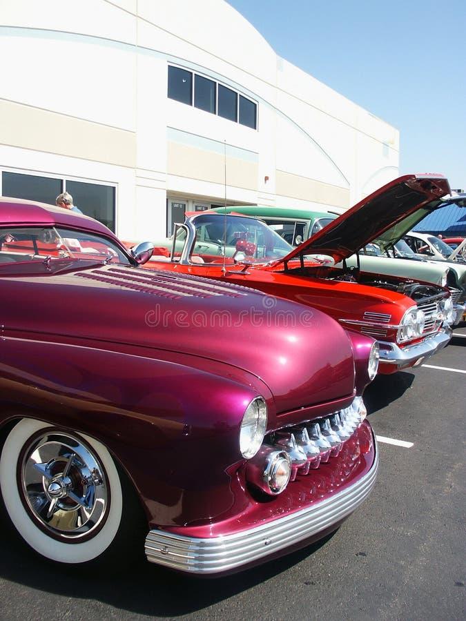 klasyczne samochody amerykańskich samochodów show fotografia royalty free