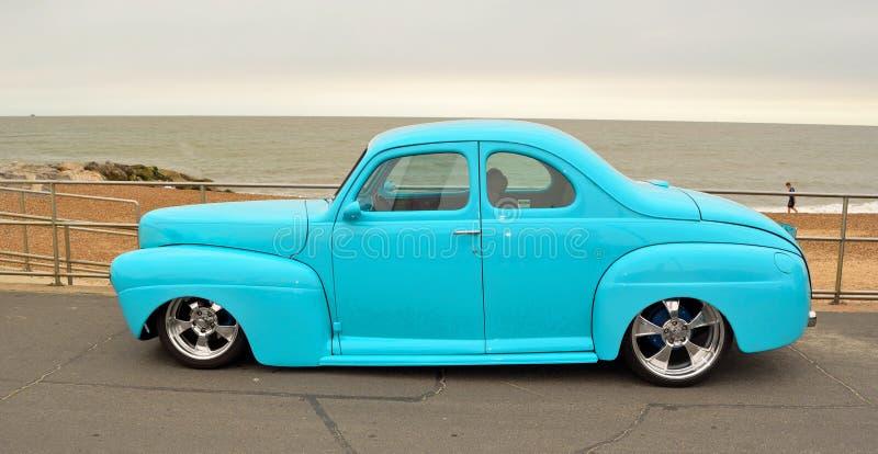 Klasycznego Błękitnego Ford Coupe Gorący prącie obrazy royalty free