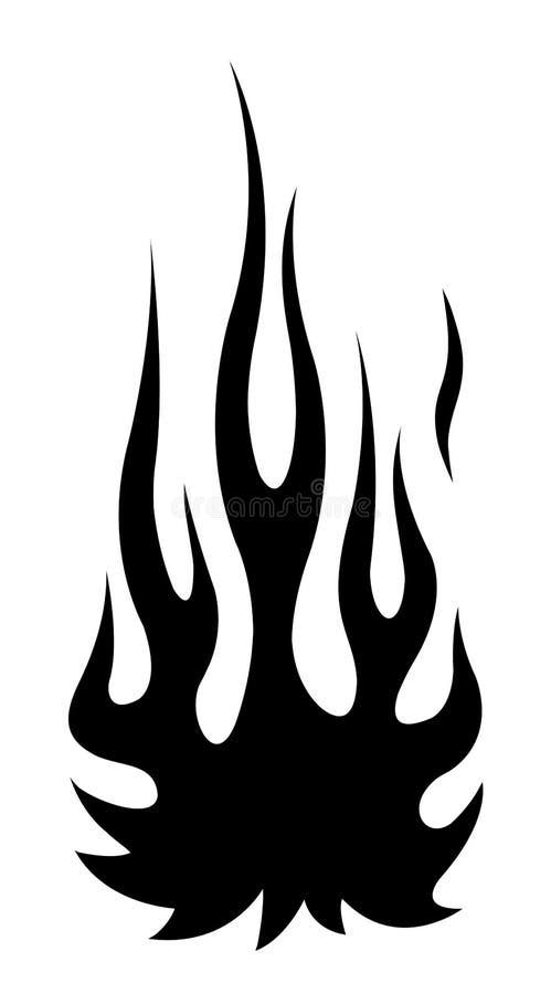 Klasycznego plemiennego hotrod mięśnia płomienia samochodowy zestaw ilustracji