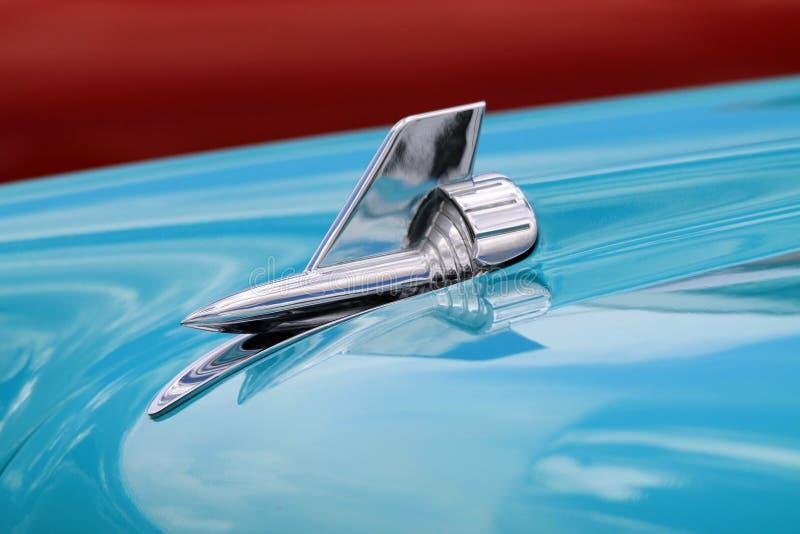 Klasyczni Amerykańscy samochodów szczegóły zdjęcia royalty free