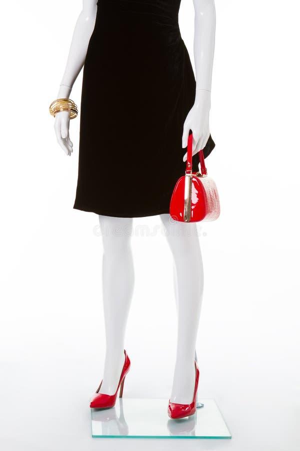 Klasyczni czerwień buty, torebka i zdjęcia royalty free