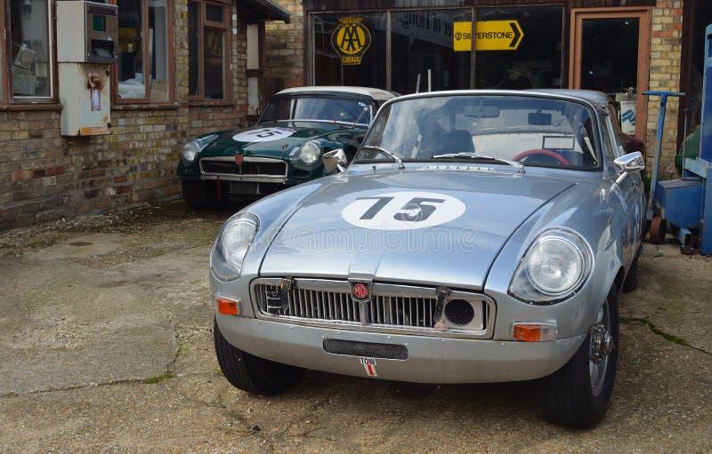 Klasyczni MG samochody fotografia royalty free