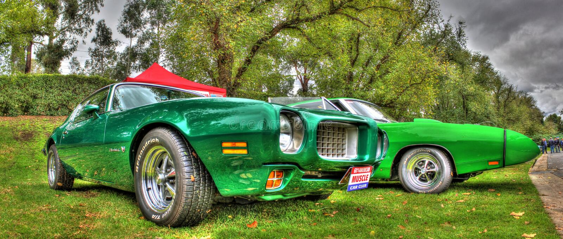 Klasyczni 1960s Pontiac Firebird obraz royalty free