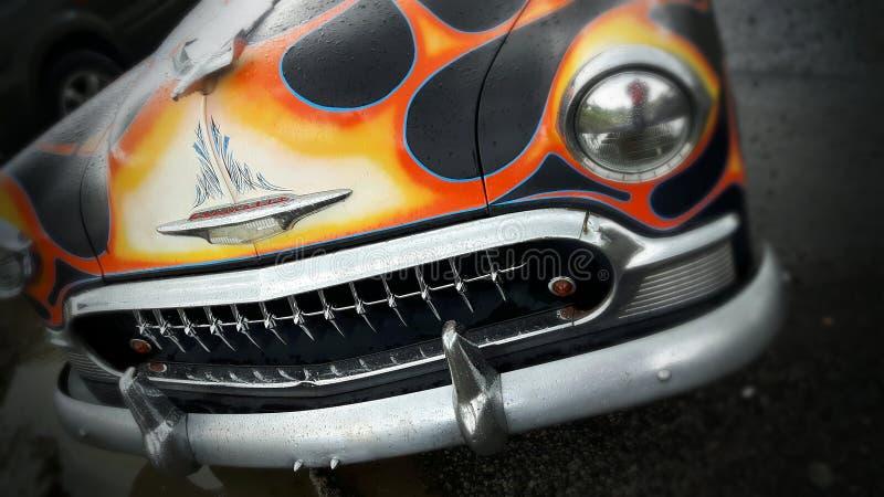 Klasyczni samochodów płomienie obrazy stock