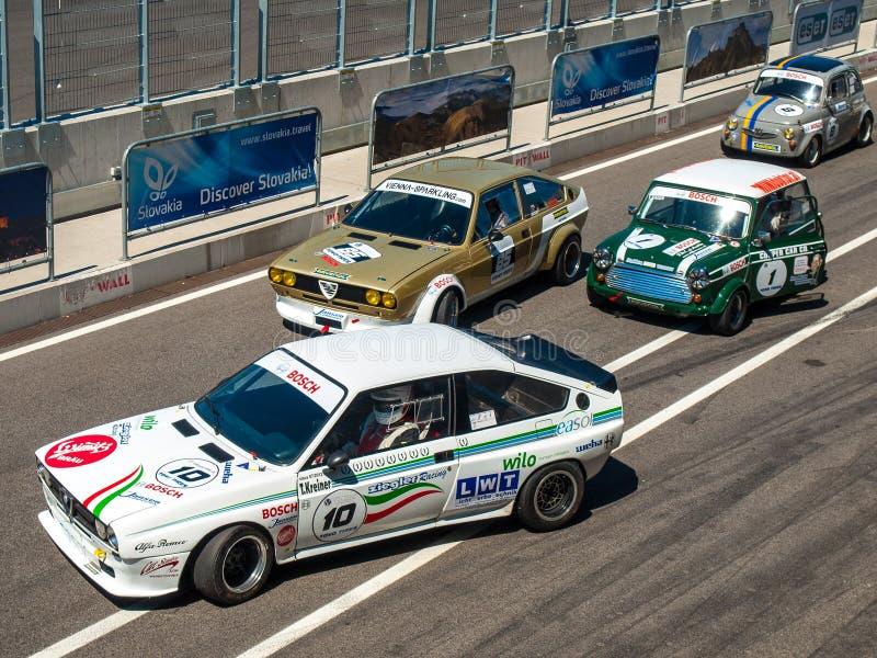 Klasyczni samochody wyścigowi obraz stock