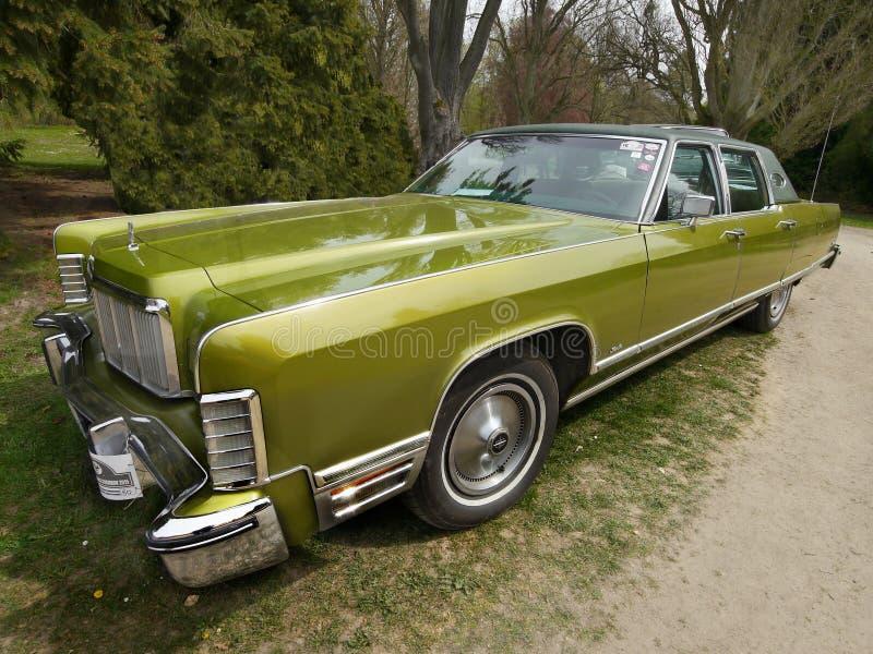 Klasyczni USA samochody, Lincoln Kontynentalny fotografia royalty free