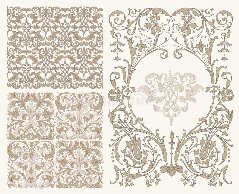 klasyczni wzory royalty ilustracja