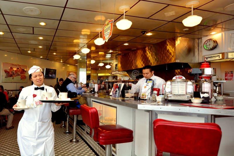Klasyczny Amerykański gość restauracji w San Fransisco, Kalifornia - obraz stock