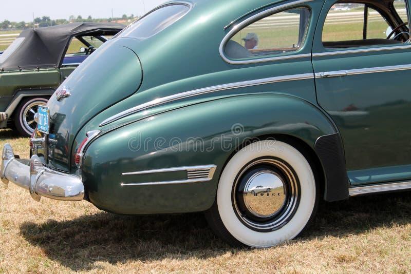 Klasyczny Amerykański samochodowy tyły fotografia royalty free