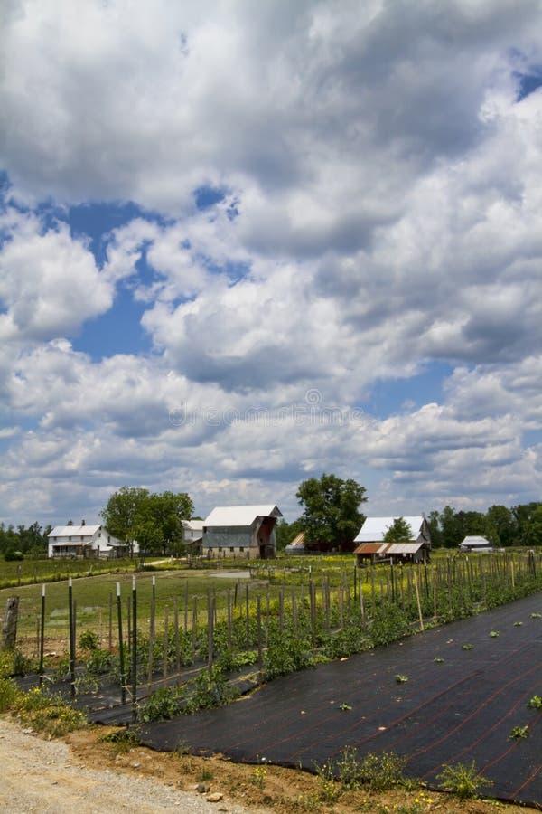 Klasyczny Amish gospodarstwo rolne, ogród i obraz stock
