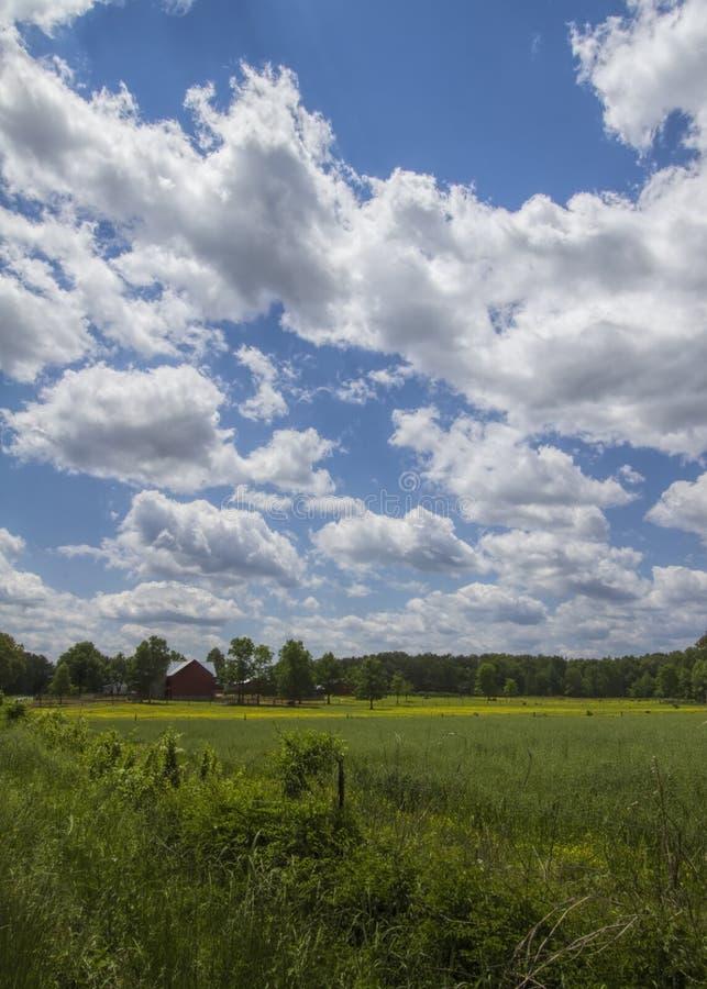 Klasyczny Amish gospodarstwo rolne, paśniki i obraz royalty free
