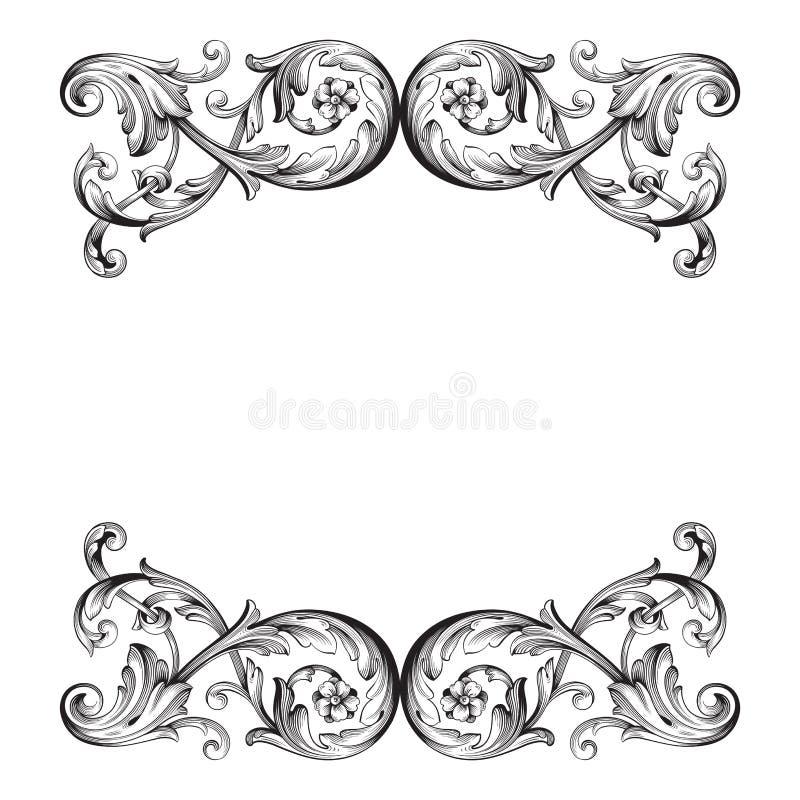 Klasyczny barokowy wektor ilustracja wektor