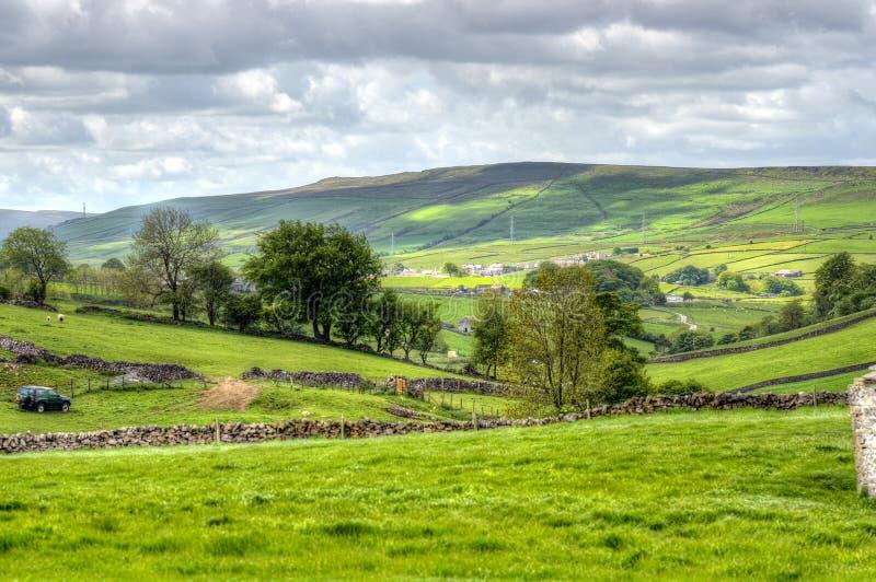 Klasyczny brytyjski krajobraz przy Szczytowy gromadzki pobliski Machester obrazy royalty free