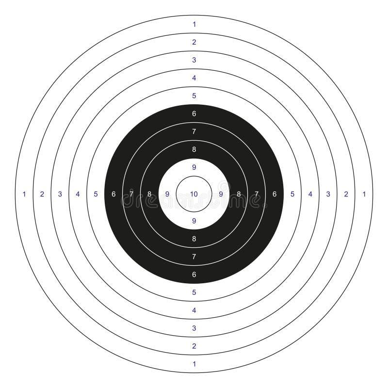 Klasyczny bullseye cel ilustracji