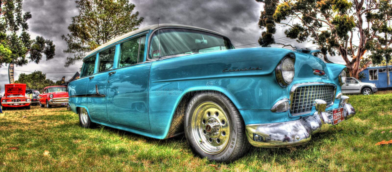Klasyczny Chevy furgon obraz royalty free