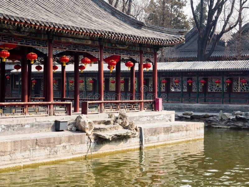 Klasyczny chińczyka ogród z pawilonem fotografia stock