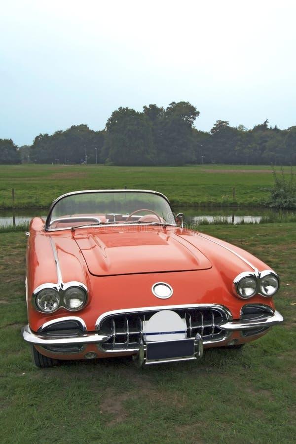 klasyczny corvetty czerwony fotografia royalty free