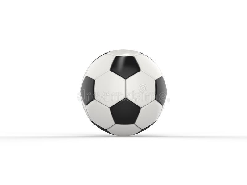 Klasyczny czarny i biały futbol - boczny widok ilustracji
