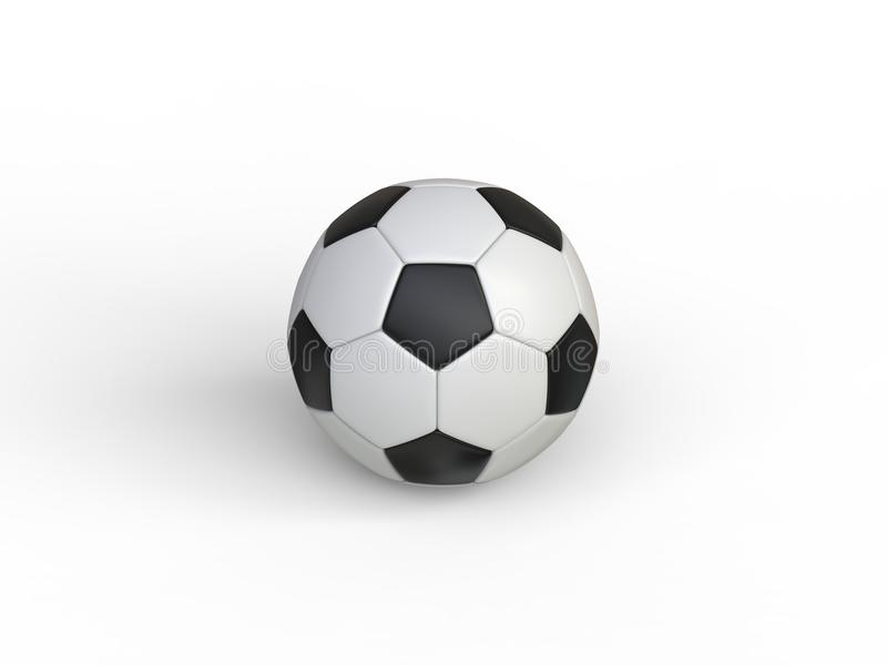 Klasyczny czarny i biały futbol - wierzchołka puszka widok ilustracja wektor