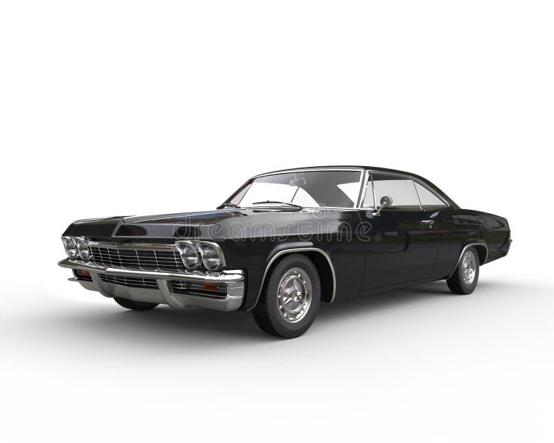 Klasyczny czarny samochód - studio strzał obraz royalty free