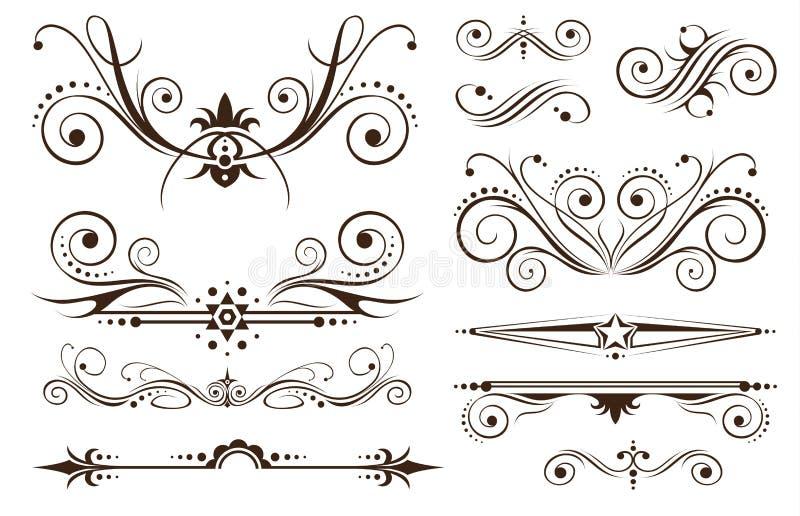klasyczny dekoraci projektów ornament ilustracji