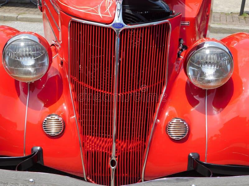 Klasyczny Ford przodu grill fotografia royalty free