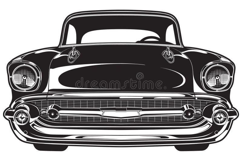 klasyczny front samochodowy royalty ilustracja
