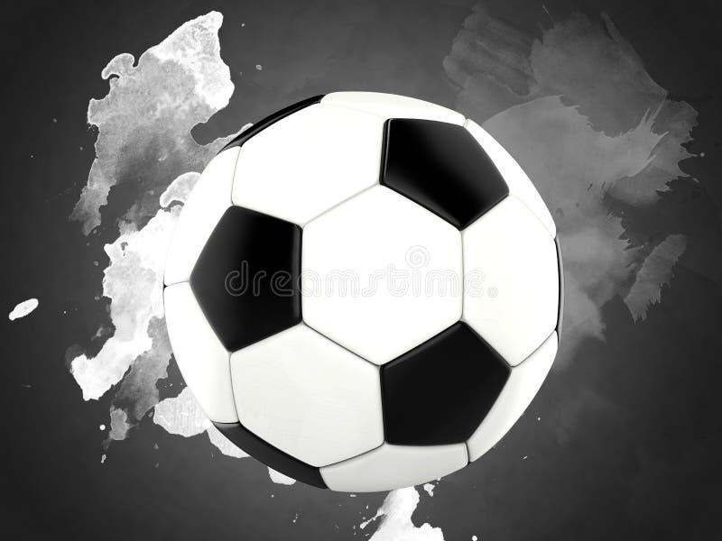 Klasyczny futbol - farb pluśnięcia royalty ilustracja